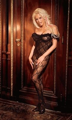 Woman's Black Body Stocking - One Size - UK SELLER