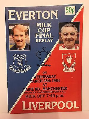 Everton v Liverpool 1984 Football League Milk Cup Final Replay Programme