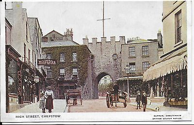 Lovely Rare Vintage Postcard,high Street,chepstow ,monmouthshire