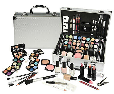 Schminkkoffer XXL Visagist Beauty Kit Kosmetikkoffer Make UP Set Alukoffer NEU