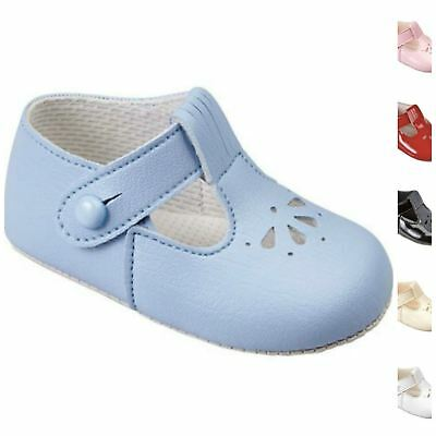 Baby Pram Shoes, Pink Blue Ivory White Red or Black Patent by Early Days Baypods