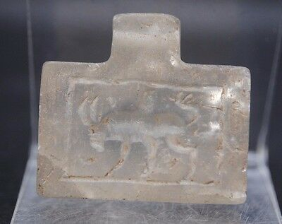 Superb Quartz Stone Amulet/pendant With Zoomorphic Animal