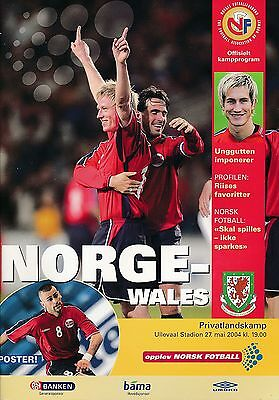 NORWAY v Wales (Friendly International) 2004