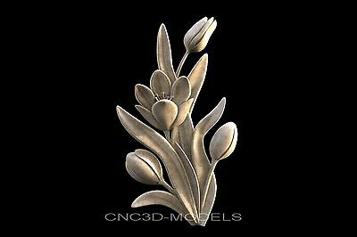 3D STL Models for CNC Router Engraver Carving Artcam Aspire Flowers 717