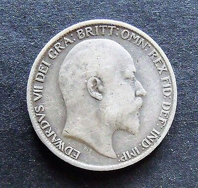 1904 EDWARD VII SILVER SIXPENCE, scarce date, nice grade, collectable.   SC0062
