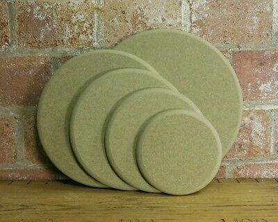 """Wooden MDF Circle Round craft plaque plinth 12mm thick 4"""" 5"""" 6"""" 7 8 10 12 16 20"""""""