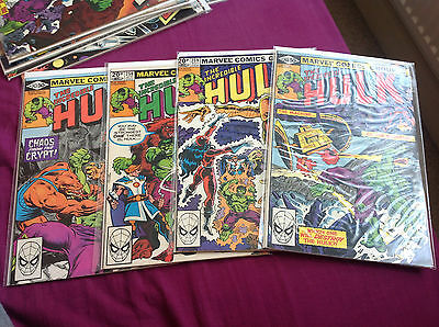 The Incredible Hulk 257-260 From 1980,1St Appearance Of The Arabian Knight