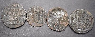 Group Of Four Ancient Byzantine Coins