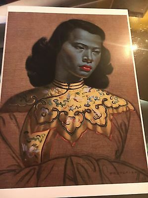 Tretchikoff chinese girl green lady beautiful A3 print retro kitsch vintage