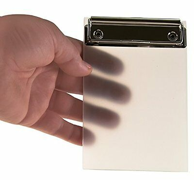 """KrohneTec - Small Clipboard - Frosted Transparent 4"""" x 6"""" - 2 Pack"""