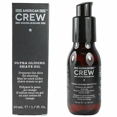 American Crew Ultra Gliding Shave Oil 50ml Mens Pre Shaving Care