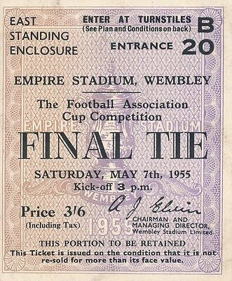 TICKET: FA CUP FINAL 1955: Newcastle v Manchester City - EXCELLENT