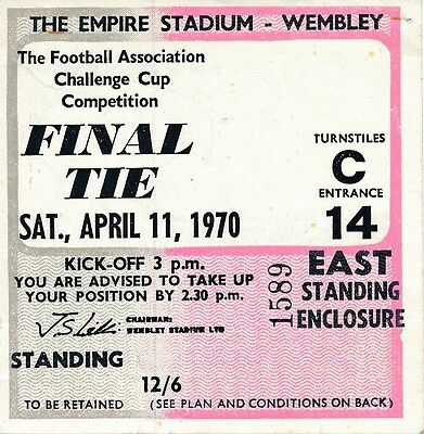 TICKET: FA CUP FINAL 1970 Chelsea v Leeds United - EXCELLENT