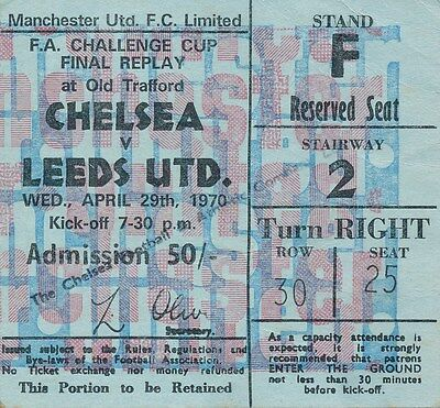 TICKET: FA CUP FINAL 1970 REPLAY: Leeds v Chelsea - EXCELLENT