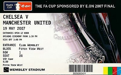 TICKET: FA CUP FINAL 2007 Chelsea v Manchester United - EXCELLENT