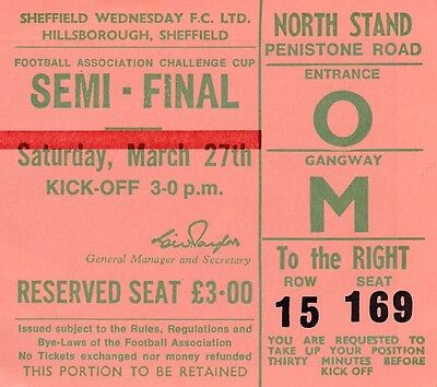 TICKET: FA CUP SEMI FINAL 1971 Stoke City v Arsenal - EXCELLENT