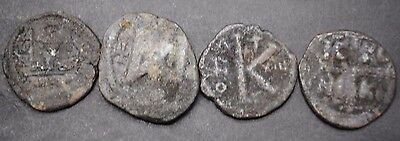 Group Of Four Large Ancient Byzantine Coins
