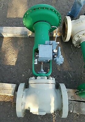 """6"""" 600 Flanged Fisher control valve ET Body  w/ type 667 Size 70 actuator"""