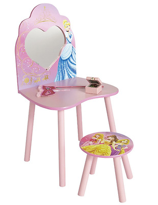 Worlds Apart Princess Dressing Table and Stool, Kids Table & Desk By HelloHome