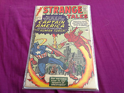 Strange Tales 114 Re-Introducing Captain America Vs The Human Torch Dr.strange