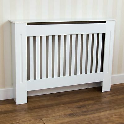 Chelsea Radiator Cover Medium Modern White Cabinet Painted Slats Grill Furniture