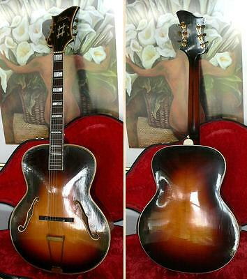 Ultra rare LEVIN ROYAL archtop jazz guitar from 1942  --  look!