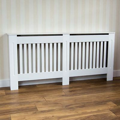 Chelsea Radiator Cover XL Modern White Cabinet MDF Painted Slats Grill Furniture