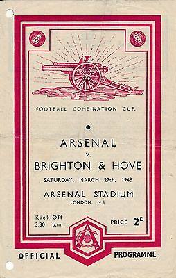 Arsenal Reserves v Brighton (Combination Cup) 1947/8