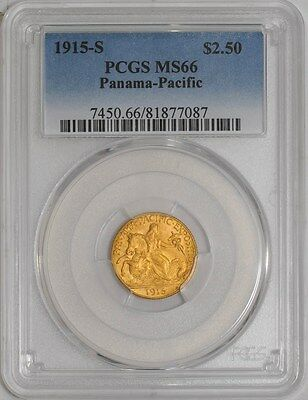 1915-S $2 1/2 Panama Pacific MS66 PCGS