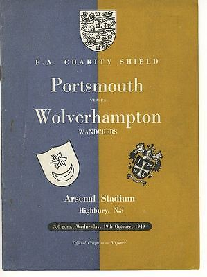 FA CHARITY SHIELD 1949: Portsmouth v Wolves @ Arsenal