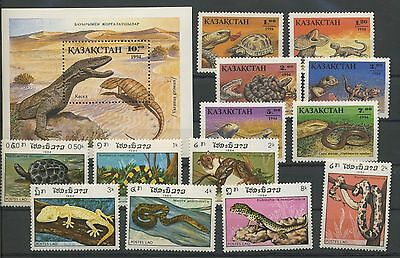 (Tv17031) Reptiles, Small Collection, Um/mnh, See Scan