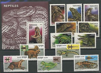 (Tv17034) Reptiles, Small Collection, Um/mnh, See Scan