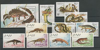 (Tv17032) Reptiles, Small Collection, Um/mnh, See Scan