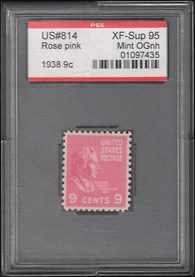 US #814 MNH XF with PSE cert graded 95, encapsulated