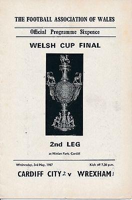 WELSH CUP FINAL 1967 Cardiff City v Wrexham