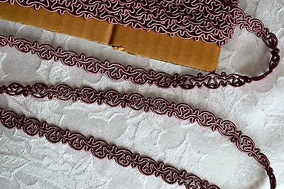 14.72_YDS_Antique_French_Silk_Gimp_Trim_Passemeterie_Made_In_France