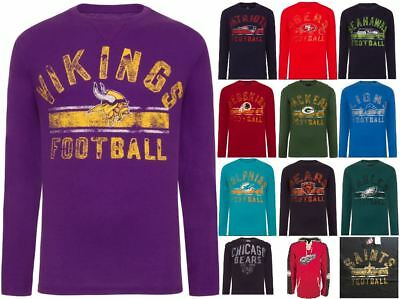 NFL NHL Long Sleeve TShirt Team American Football Hockey Original Apparel Shirt