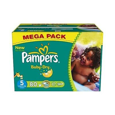 80 Couches PAMPERS Baby Dry taille 5