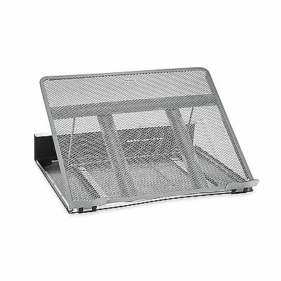 Rolodex Mesh Workspace Laptop Stand, Black/Silver 82410