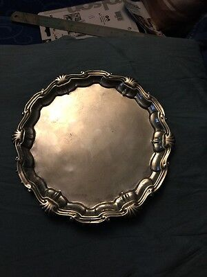 Solid Silver Waiter Tray Very Rare Maker