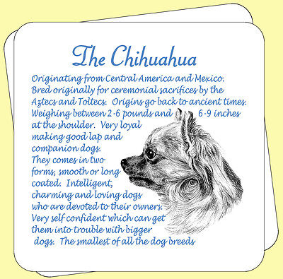 Chihuahua Dog Origins And Breed Facts Pair Of Gift Packed Wooden Coasters