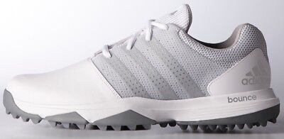 Adidas 360 Traxion Golf Shoes White/silver/silver -New  2017