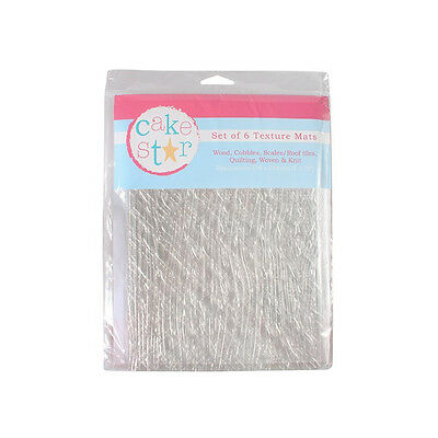 Cake Star Texture Mats - Architecture & Fabric (Set of 6)