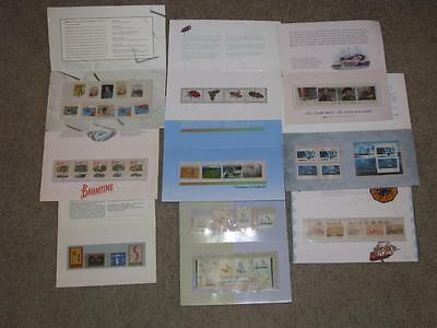 Australia-9 different Stamp Folios complete with stamps, Lot A3