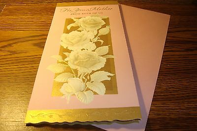 MOTHERS DAY CARD * For You, Mother From Both of Us *   oversized / NEW   c16