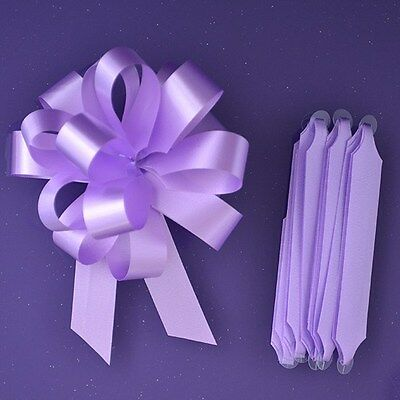 Purple Cupcakes Quick Pull Bow / Cupcake Bouquet Bow - Lilac