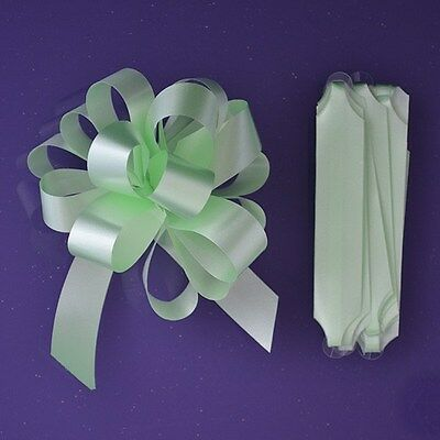 Purple Cupcakes Quick Pull Bow / Cupcake Bouquet Bow - Lime Green