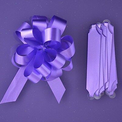 Purple Cupcakes Quick Pull Bow / Cupcake Bouquet Bow - Purple
