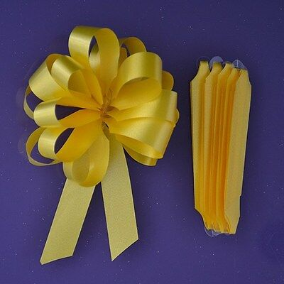 Purple Cupcakes Quick Pull Bow / Cupcake Bouquet Bow - Yellow
