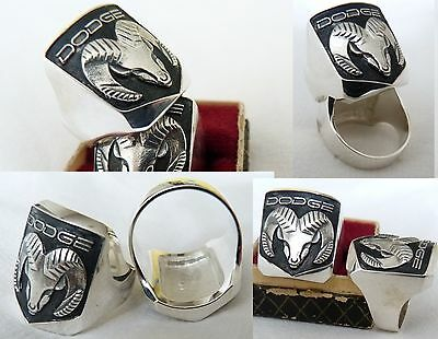 Ring with DODGE  LOGO  SILVER * 925 *
